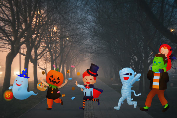 trick or treat pedestrian safety tips