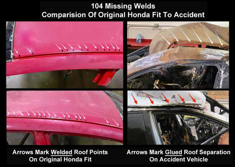 car accident lawyer found adhesive used in roof repair