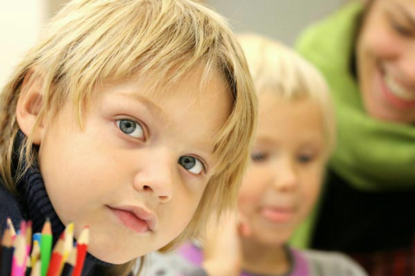 children in school class