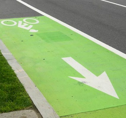 dangerous bicycle lanes need protection - paint is not enough