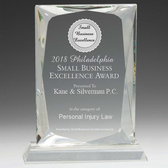 small business excellence award in philadelphia - personal injury law firm kane & silverman