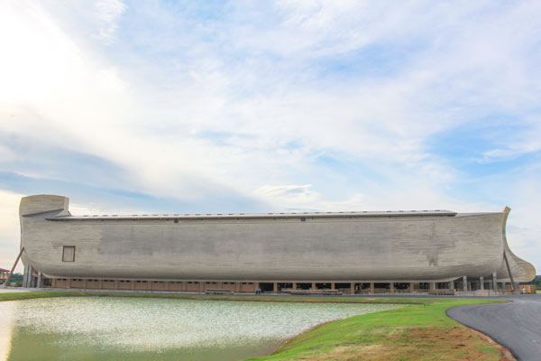 noah's ark encounter suffered rain damage