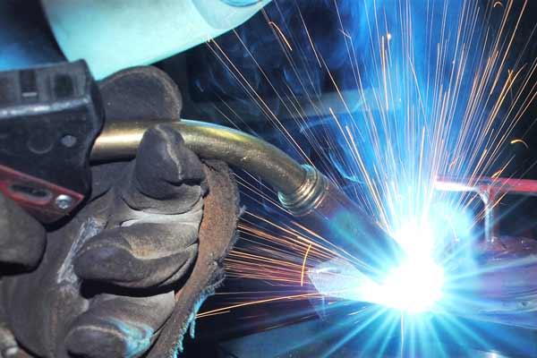 construction welder foot injury