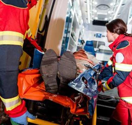 ambulance ride after a car crash