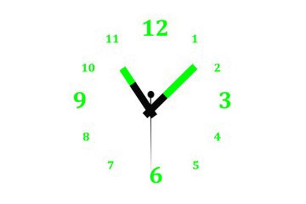 glowing watch dial